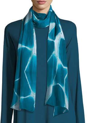 Eileen Fisher Spatial Silk Shibori Scarf