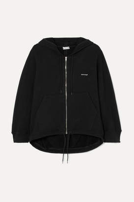 Balenciaga Cocoon Printed Stretch Cotton-blend Jersey Hoodie - Black