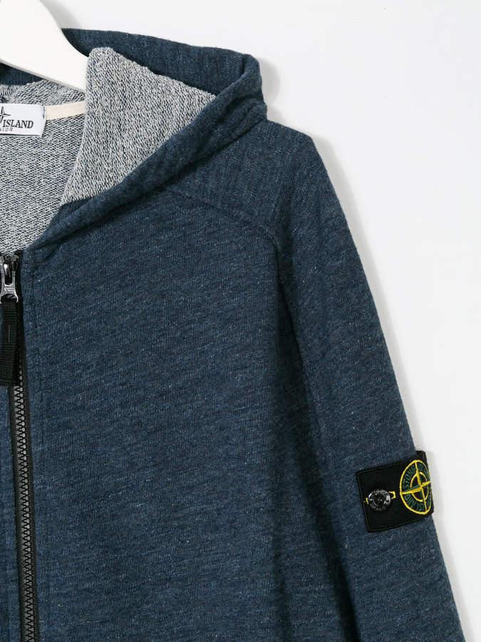 Stone Island Junior TEEN logo hoodie