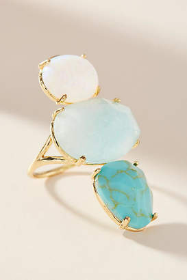 Anthropologie Crackled Stones Cocktail Ring