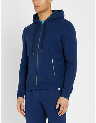 Derek Rose Zipped cotton-jersey hoody