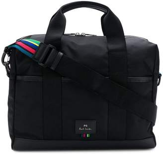 Paul Smith logo zipped laptop bag