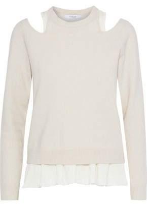 Derek Lam 10 Crosby Layered Cutout Wool-Blend Sweater