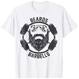 Funny Beard Barbells Gym T Shirt