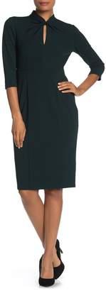 Donna Morgan Crepe Sheath Midi Dress