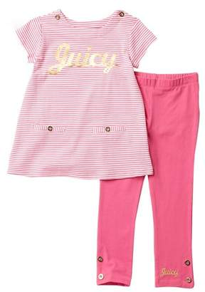 a21dfbcb9c28e6 Juicy Couture Striped Tunic   Leggings Set (Toddler Girls)