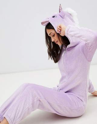 Loungeable Sparkle Fleece Unicorn Onesie