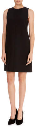 Victoria Beckham Victoria Sleeveless Round-Neck A-Line Wool-Crepe Skimmer Dress