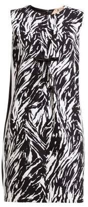 No.21 No. 21 - Zebra Print Vinyl Bow Shift Dress - Womens - Black White