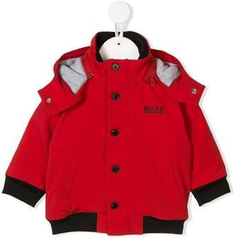 HUGO BOSS detachable hood padded jacket