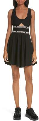 Opening Ceremony Logo Waist Cutout Fit & Flare Dress