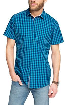 Esprit edc by Men's Vicky Check Slim Fit Short Sleeve Casual Shirt
