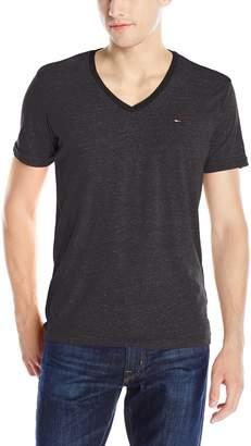 Tommy Hilfiger Men's Original Melange V-Neck Short Sleeve T-Shirt