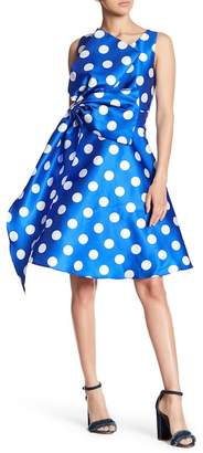 CQ by CQ Polka Dot Print With Large Bow Dress