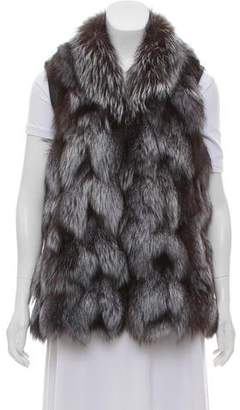 Fur Vest w/ Leather Trim