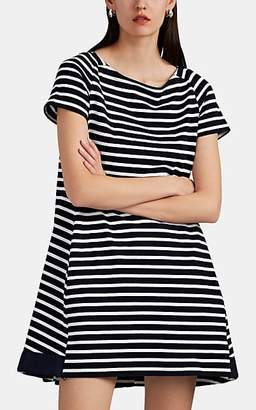 Sacai Women's Striped Cotton Jersey T-Shirt Dress