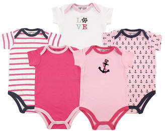 Baby Vision Luvable Friends Unisex Baby Bodysuits, 5-Pack, 12-24 Months