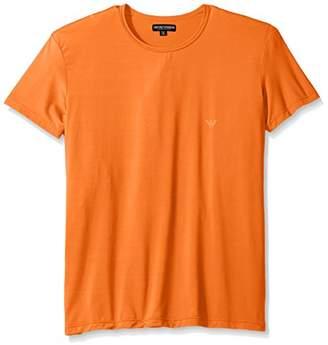 Emporio Armani Men's Microfiber Sailor Stripe Crew Neck T-Shirt