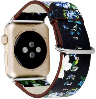 HotGlows Replacement Strap Wrist Watch Band Compatible with Apple Series 1 Series 2 Series 3 2017 (, Peony-)