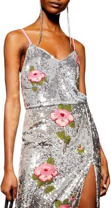 Topshop Beaded Floral Cami
