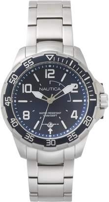 Nautica Men's 'PILOT HOUSE' Quartz Stainless Steel Sport Watch, Color:Blue (Model: NAPPLH004)