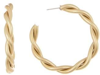 Yochi Twisted 45mm Hoop Earrings