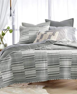 Lucky Brand Broken Stripe Cotton European Sham, Created for Macy's Bedding