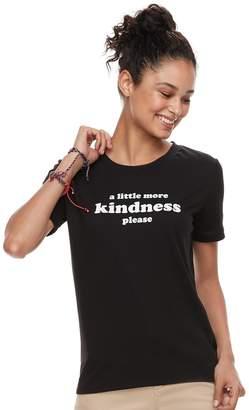 "The Print Shop Juniors' THE PRINT SHOP ""A Little More Kindness Please"" Ringer Tee"