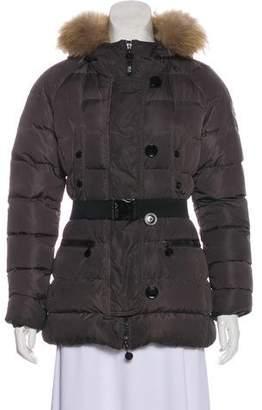 Moncler Gene Fur-Trimmed Down Coat