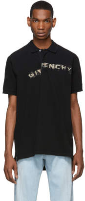 Givenchy Black Oversized Graffiti Logo Polo