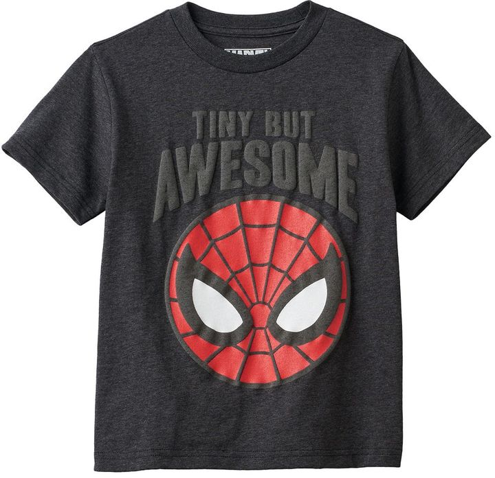 """Boys 4-7 Marvel Spider-Man """"Awesome"""" Graphic Tee"""