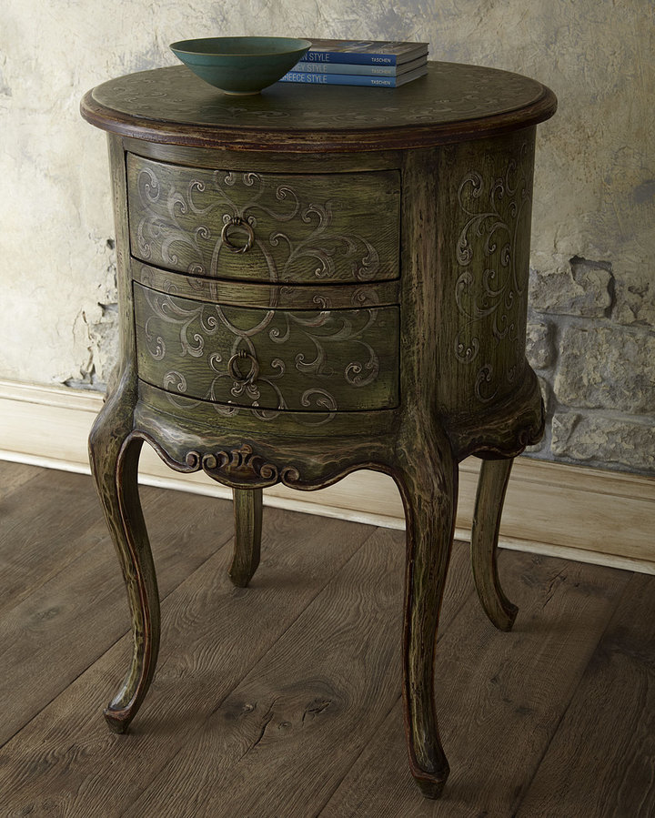 Horchow Military Scroll Commode
