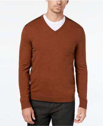 Alfani Men Tipped V-Neck Sweater