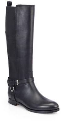 Ralph Lauren Sadona Leather & Stretch Boots