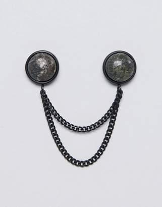 ICON BRAND Premium collar tips with tiger eye stone detail