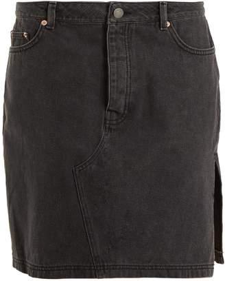 Raey Side-split denim skirt
