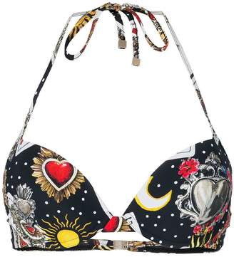 Dolce & Gabbana push-up printed bikini top