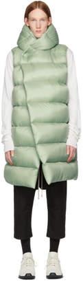 Rick Owens Green Down Liner Vest