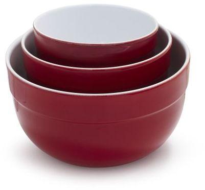 Emile Henry Cerise Mixing Bowls, Set of 3