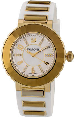 Swarovski Crystal Rubber Watch