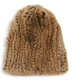 Surell Rex Rabbit Fur Hat