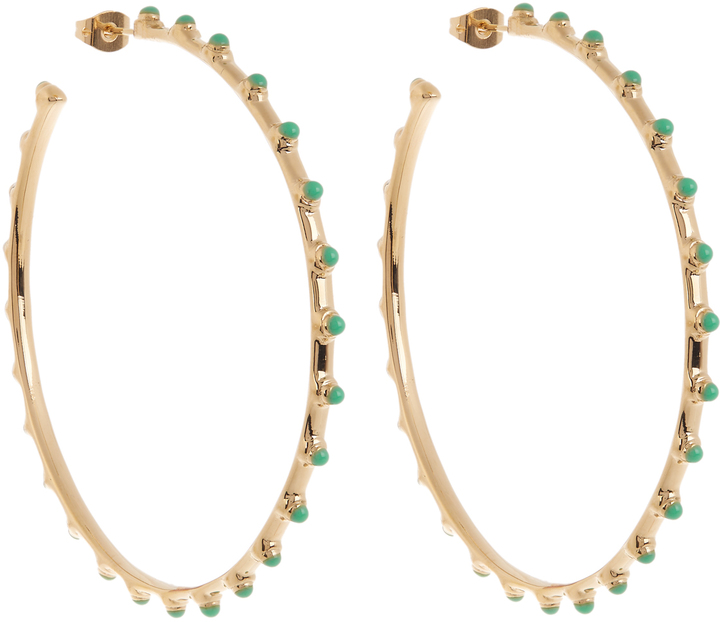 Aurelie Bidermann AURÉLIE BIDERMANN Wapiti gold-plated earrings