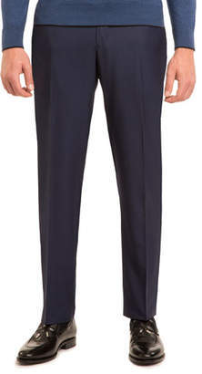Stefano Ricci Super 160s Wool Flat-Front Trousers