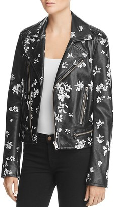 IRO.JEANS Phedra Floral Leather Jacket $1,610 thestylecure.com