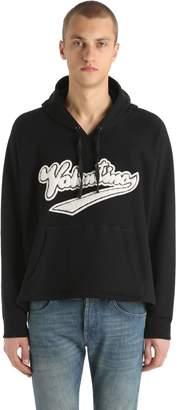 Valentino Beaded Logo Hooded Cotton Sweatshirt