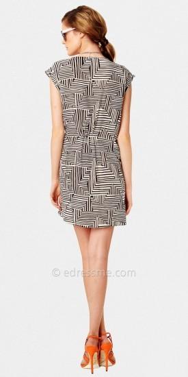 Greylin Printed Short Sleeve Casual Wrap Dresses
