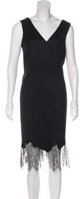 John Galliano Sleeveless Midi Dress w/ Tags