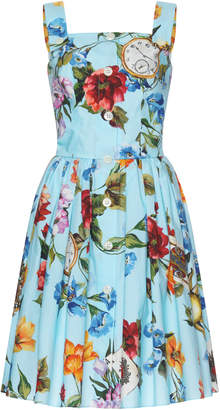 Dolce & Gabbana Floral-Print Cotton Dress