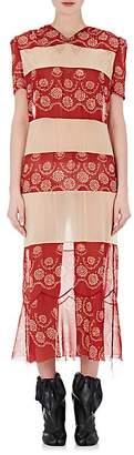 Maison Margiela WOMEN'S PANELED SILK & MESH SHIFT DRESS