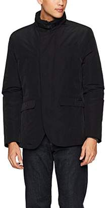 William Rast Men's Waxed Blazer Jacket with Bib Insert